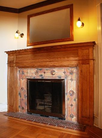Mantle with Mercer tile