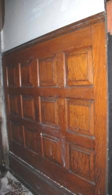 Original panelling on facing wall