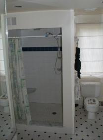 Shower stall before